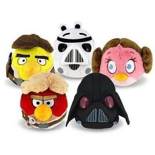 angry birds starwars 5 inch plush set of 5 in