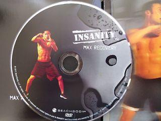 shaun t insanity beachbody max recocery dvd 1 disc only