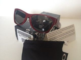 NEW Oakley Jupiter LX Sunglasses MPH Brick Red w/Grey 30 770 In Box w