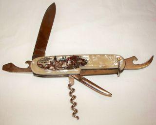 INOX Rostfrei Germany Folding Pocket Knife with 5 Blades / 6 Tools 3 1
