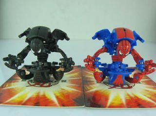 2pcs new spider man bakugan 2 metal card rare from china  7