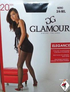 FF SILKY Sheer to Waist SATIN SHINE BLACK Pantyhose Tights* M L