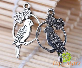 Newly listed 10 Pcs Tibetan silver bali style parrot Bird cage charms