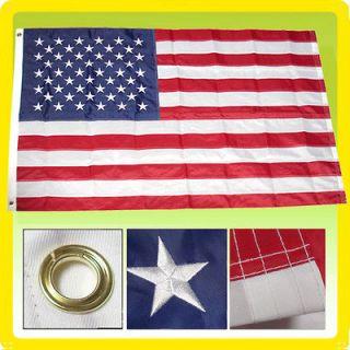Flag 4 X 6 USA US AMERICAN STARS NYLON SEWN EMBROIDERED Flag
