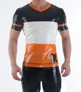 DOG Latex Gummi Rubber Sport Football Top Muscle Shirt Dutch Orange