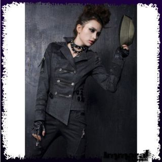 PUNK RAVE GOTHIC MILITARY JACKET   PUNK/GOTHIC/BLACK/COAT   UNISEX