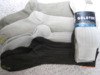 GOLDTOE mens dress socks. 4 pair. Brn/Khaki/tan/beige 10 13.