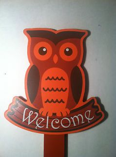 Newly listed Owl Wooden Yard Stake Garden Outdoor Decor Welcome Sign
