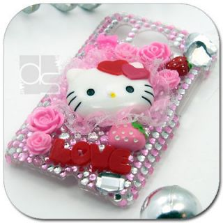 Hello Kitty Bling Hard Skin Case Cover For HTC A9191 Desire HD at&t