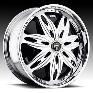 26 dub ravenous spinner chrome wheel set time left $