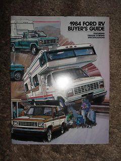 RV Buyers Guide Sales Brochure Slide In Camper C Motorhome Van Towing