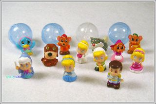 12pcs SQUINKIES Classics Disney Princess Cinderella Figure Loose Toy