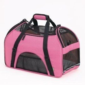 Soft Sided Pet Dog Cat Carrier w/ Ventilated Sides Removable Fleece