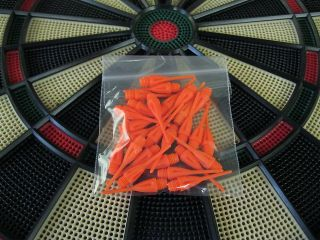 ORANGE Dimpled DART TIPS for All Electronic Dart Boards 1/4 Thread