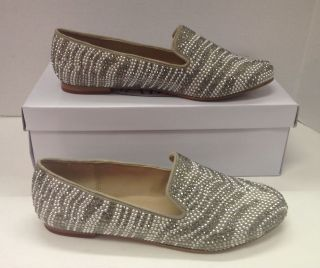 Steve Madden Conncord loafer style pewter multi flat shoes NEW IN BOX