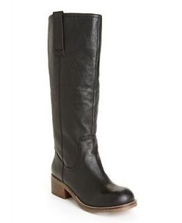 STEVE MADDEN FOREWAY $139 BLACK LEATHER TALL RIDING BOOT 6 NEW