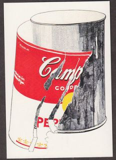 x4734 andy warhol postcard big torn campbell s soup can