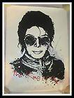 MR BRAINWASH MICHAEL JACKSON KING OF POP S/N SCREEN PRINT Banksy Andy