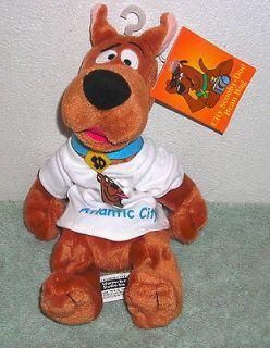 HANNA BARBERA SCOOBY DOO ATLANTIC CITY T SHIRT 8 PLUSH BEAN BAG