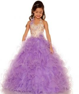 NEW Sugar Girls Pageant Dress Style 81680S Lilac Size 8 More Dresses