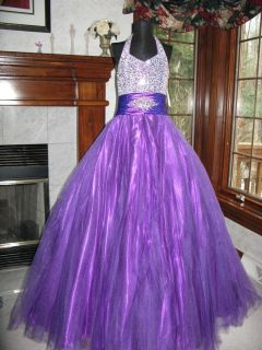 sugar 81527 purple girls stoned pageant gown dress 14
