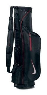 2011 Nike Golf Skinny Carry Bag Black/Red Sunday Style Bag Brand New $