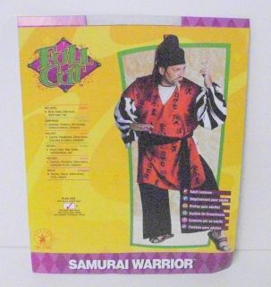 samurai warrior costume adult plus size 46 52 17306