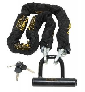 SunLite 4 Heavy Duty Bicycle Chain Lock w/ Mini U Lock New Bike