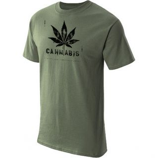 cannabis t shirt cool funny marijuana tee olive l time