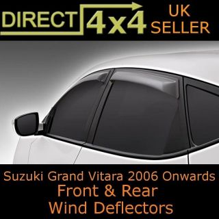 Suzuki Grand Vitara 5 Door 2006 Onwards Black Wind Deflectors Rain