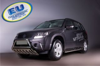 suzuki grand vitara oe70 bull bar with skid plate ce