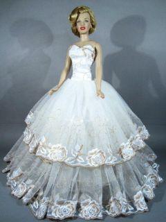 Eaki Bride Evening Outfit Gown Dress Franklin Mint Marilyn Monroe