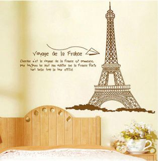 Newly listed Z Huge Paris Eiffel Tower Wall Stickers Decor Decals Art