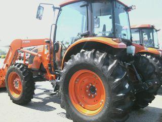 TWO 11.2x24, 11.2 24 KUBOTA M9540 8 ply R 1 Bar Lug Farm Tractor Tires
