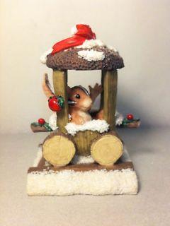 Charming Tails #87707 Chaunceys Choo Choo Ride Retired Figurine by