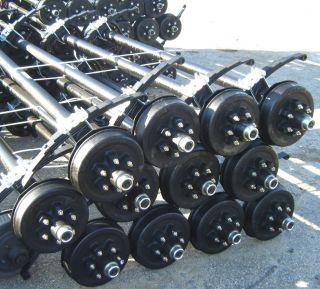 5200LB 4 DROP BRAKE AXLE 86HF 68 1/2SC 6 LUG TRAILER,CARGO
