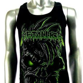 Sz M Metallica T Shirt Tank Top Vest Biker Rider Heavy Metal Rock Men