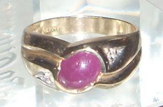 vintage estate levian 14k yellow gold ruby diamond ring time