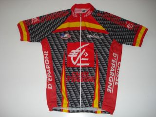New size XL   CAISSE DEPARGNE Team Cycling Road Bike Jersey