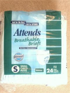 96 ATTENDS BRIEFS ADULT DIAPERS YOUTH DIAPER SMALL (1) Case Disposable