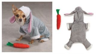 Cute Bunny Rabbit Costume for Dogs   Halloween Dog Costumes   CLOSEOUT