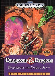 Dungeons Dragons Warriors of the Eternal Sun Sega Genesis, 1992