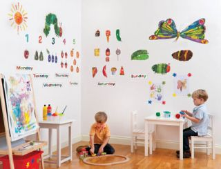 the very hungry caterpillar giant wall stickers kit  35 17