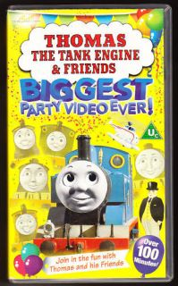 thomas the tank engine biggest party 100 mins vhs time