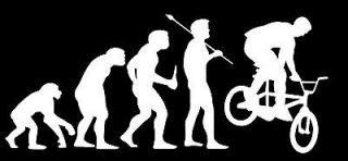 Evolution car vinyl wall decal BMX BIKE BIKING XGAMES STREET FREESTYLE