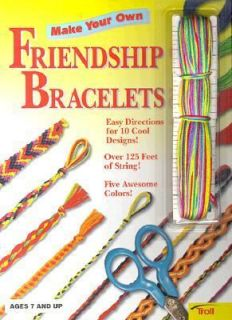 Make Your Own Friendship Bracelets with String in Five Colors by