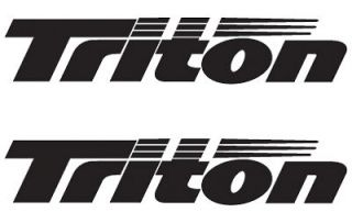 pair of triton boat vinyl decals stickers more options color