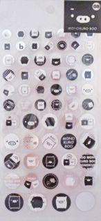 San X Monokuro Boo Black & White Pig Sticker Sheet (SE87903)~KAWAII