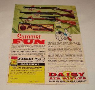 1957 daisy summer fun bb gun air rifle ad page