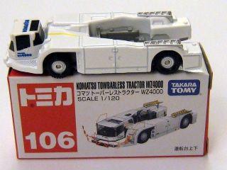 Takara Tomy Tomica 106 Komatsu Towbarless Tractor WZ4000 1/120 Diecast